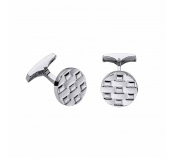 Gemelos de plata Pedro Duran Textura Ref. 00074133