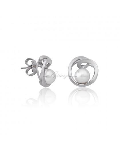 Pendientes de plata perlas Majorica Ref. 16499.01.2.000.010.1