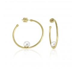 Pendientes aros perlas Majorica Ref. 16371.01.B.000.010