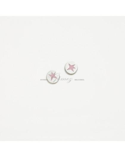 Pendientes de Agatha Ruiz de la Prada estrella rosa Ref. 030NIC