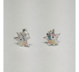 Pendientes de plata unicornio Ref. PE0202