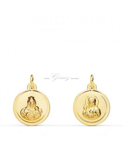 Medalla de oro escapulario Ref. 6437