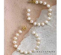 Pendientes de aros de plata chapada Salvatore Ref. 164A0037