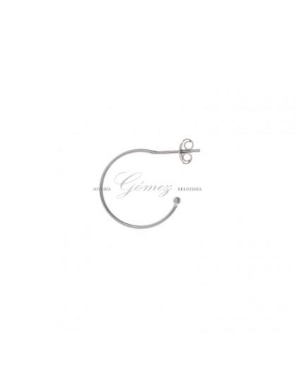 Pendientes de aros de plata Salvatore Ref. 213CH007