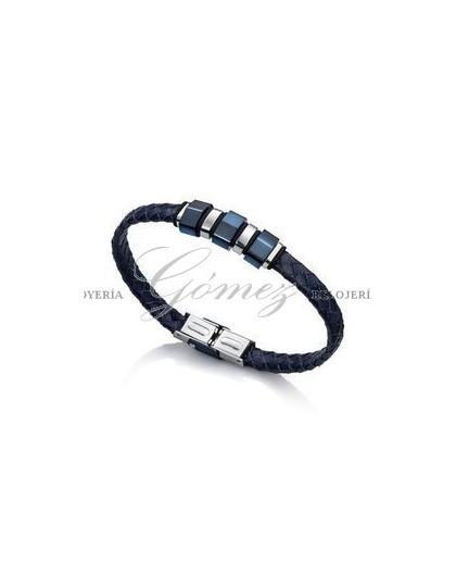 Pulsera cuero azul Viceroy Fashion Ref. 6337P09013