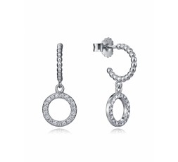 Pendientes de aros de plata Viceroy Jewels Ref. 7126E000-38