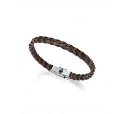 Pulsera de acero y cuero bicolor Viceroy Fashion Ref. 6458P01010