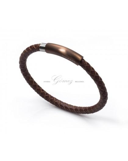 Pulsera de cuero marron Viceroy Fashion Ref. 6287P09011