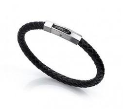 Pulsera cuero negro Viceroy Fashion Ref. 6298P09010