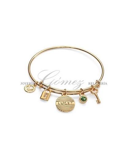 Pulsera dorada rígida Ref. 3158P09012
