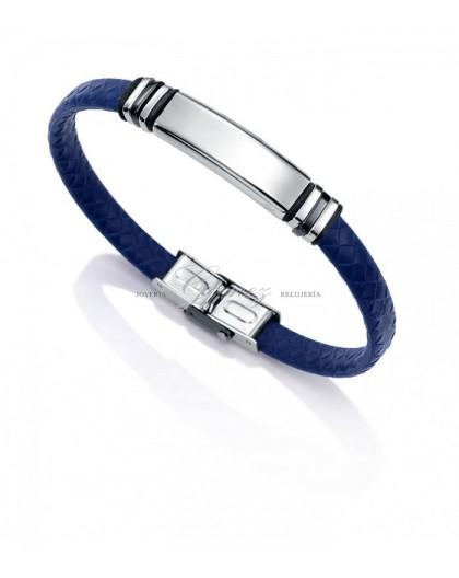 Pulsera de cuero azul Viceroy Fashion Ref. 6432P09013