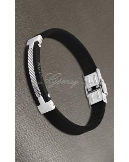 Pulsera de caucho negro Lotus Style Ref. LS1522-2/2