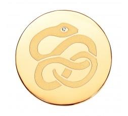 Medallon Serpiente IP dorado Viceroy Plaisir Ref. VMC0006-06