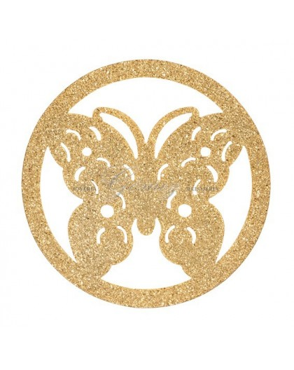 Medallon Mariposa dorada Viceroy Plaisir Ref. VMR0008-06