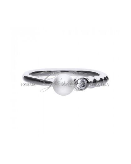 Anillo de plata Diamonfire con perla y circonitas Ref. 6119731111170
