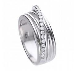 Anillo de plata con circonitas Diamonfire Ref. 6117571582175
