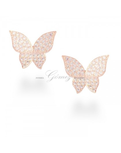 Pendientes Mariposas oro rosa Luxenter Ref. EV051R0000