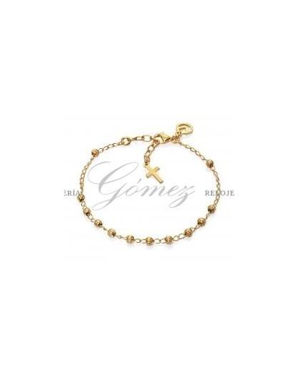 Pulsera cruz dorada Viceroy Jewels Ref. 1181P100-06