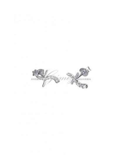 Pendientes Cruz Lotus Silver Ref. LP1525-4/1