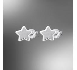 Pendientes de plata estrella Lotus Silver Ref. LP1741-4/1