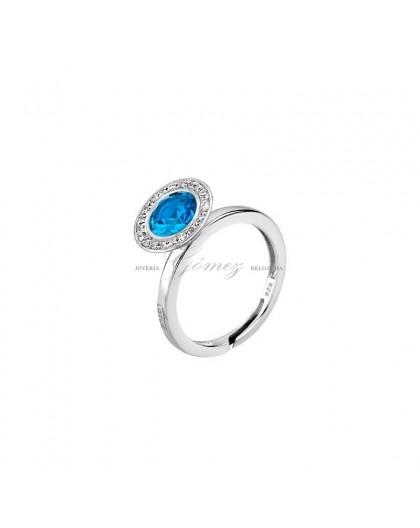 Anillo de plata con piedra azul Lotus Silver Ref. LP1702-3/5