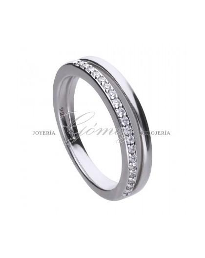 Anillo de plata con circonitas Diamonfire Ref. 6119241082165