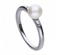 Sortija con perla y circonitas Diamonfire Ref. 6118281511170
