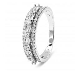 Anillo de plata con circonitas Luxenter Ref. K21170014