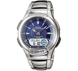 Reloj Casio de acero anadigital Ref. AQ-180WD-2AVES