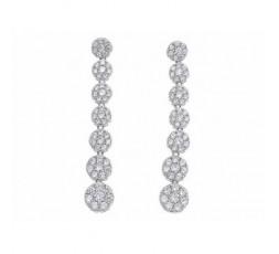Pendientes de plata con circonitas Salvatore Ref. 136A0191