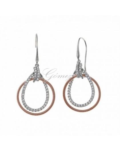 Pendientes de plata bicolor Salvatore Ref. 136A0229