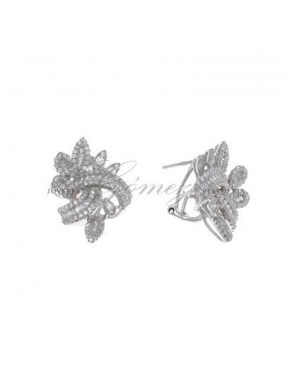 Pendientes de plata con circonitas Salvatore Ref. 112A0178