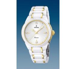 Reloj blanco de ceramica Festina Ref. F16698/2
