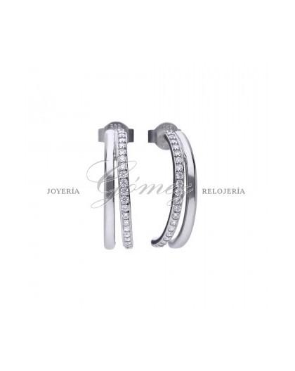 Pendientes de aros con circonitas Diamonfire Ref. 6218311082