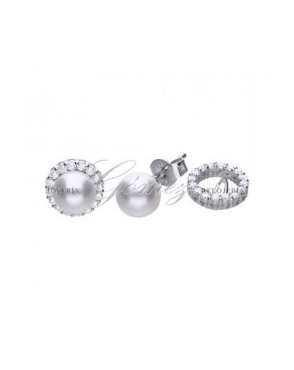 Pendientes de perlas con circonitas Diamonfire Ref. 6218181111