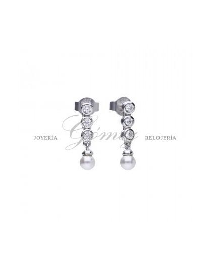 Pendientes de perlas con circonitas Diamonfire Ref. 6218571111