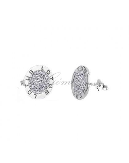 Pendientes de plata Lotus con circonitas Ref. LP1252-4/6
