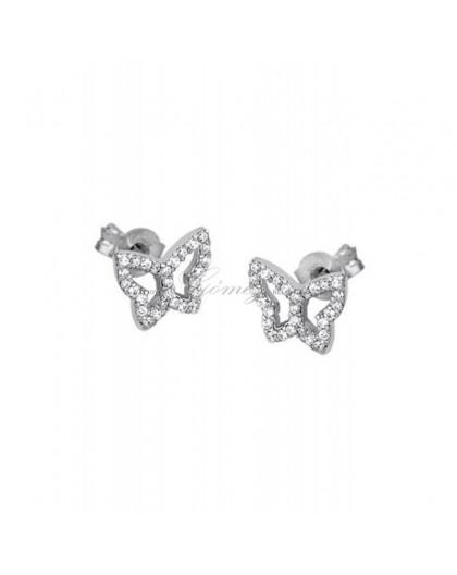 Pendientes de mariposas de circonitas Lotus Silver Ref. LP1518-4/1