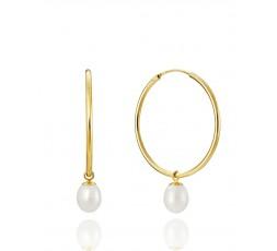 Pendientes de aros con perlas Viceroy Ref. 1603E000-66