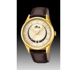 Reloj Lotus de piel chapado Ref. 15979/1