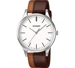Reloj de piel marron oscuro y claro Casio Ref. MTP-E133L-5EEF