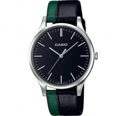 Reloj Casio de piel bicolor negra y verde Ref. MTP-E133L-1EEF
