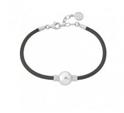 Pulsera cuero con perla Majorica Ref. 14223.01.2.000.010.1