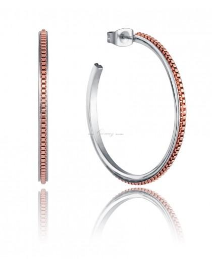 Pendientes de aros bicolor Viceroy Fashion Ref. 5116E19019