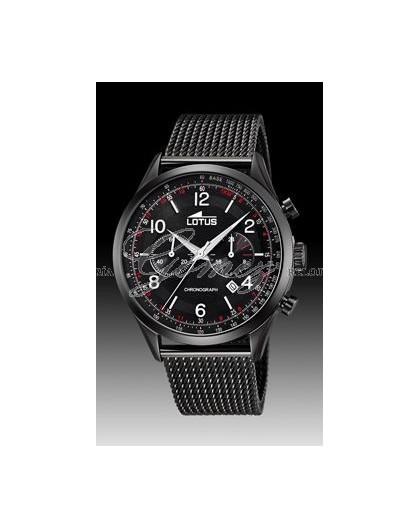 Reloj Lotus negro de caballero con crono Ref. 18556/1
