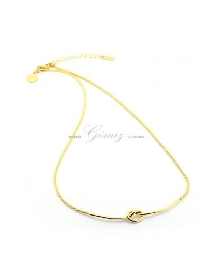 Collar nudo dorado Ref. COA184-D