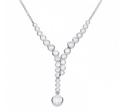 Gargantilla de plata con circonitas Diamonfire Ref. 6310511082