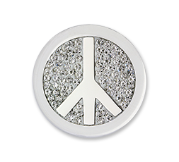 Moneda Peace White Diamond Discs Mi Moneda Ref. M-PD-13-S