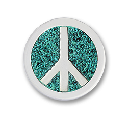 Moneda Peace Turquoise Diamond Discs Mi Moneda Ref. M-PD-18-S
