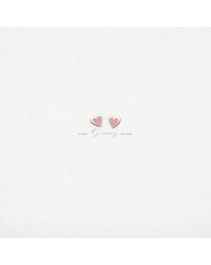 Pendientes de plata Agatha Ruiz de la Prada corazon con esmalte de color rosa 00098101